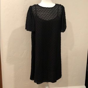 NWT- eri +ali Anthropology black midi dress